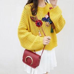 *NEW* High Quality Women Red Messenger Bag
